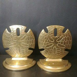SEI Solid Brass NauticalShell Bookends